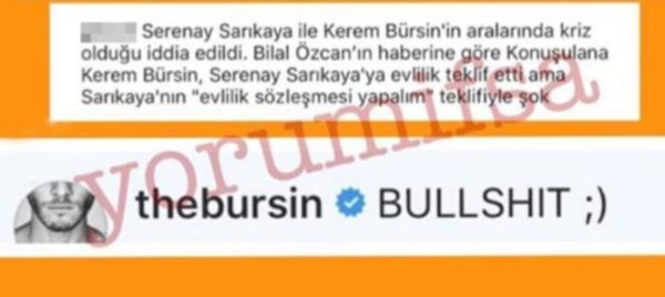 Serenay Sarıkaya Kerem Bürsin çiftinin hakkında çıkan iddialara yanıt