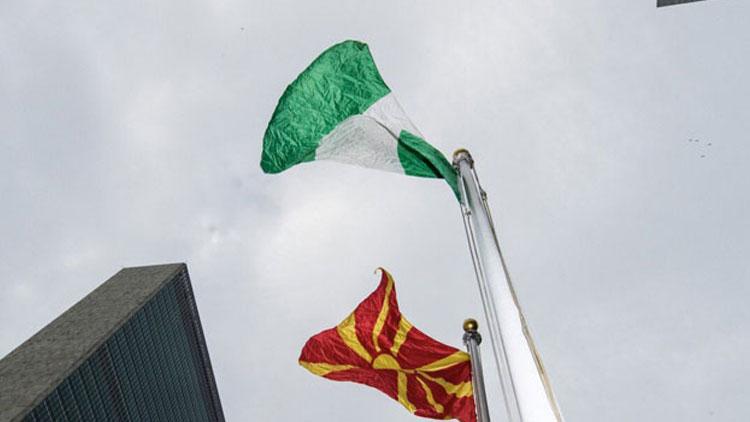 Kuzey Makedonya bayrağı BM merkezinde ilk kez göndere çekildi