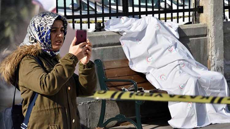 Konya'da hastane bahçesinde cesedin fotoğraf çeken kadını polis durduramadı
