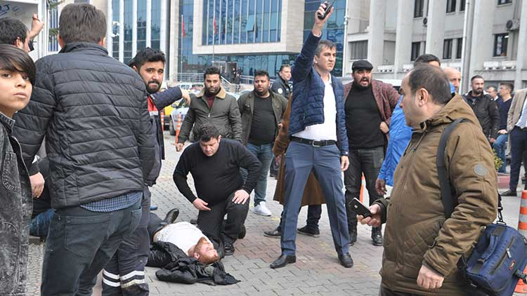 Zonguldak'ta adliye çıkışı silahlı saldırı