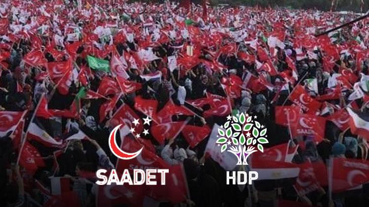 HDP adayları Şanlıurfa'da Saadet Partisi'ne destek vermek için çekildi