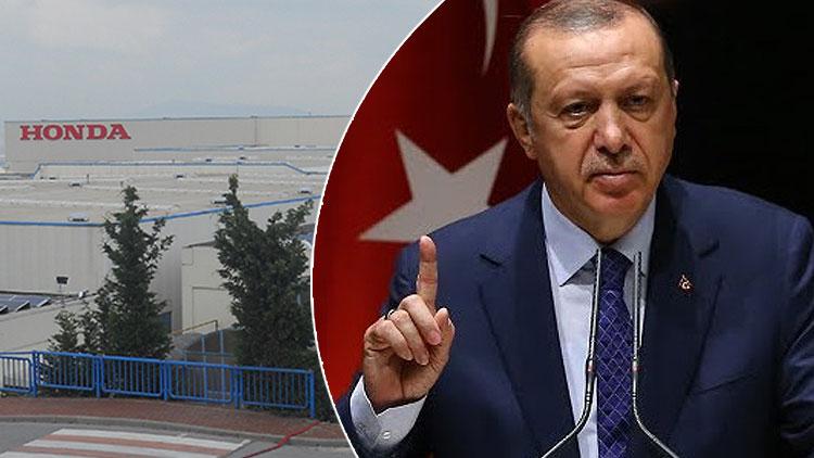 Erdoğan, üretimi durduracak Honda'yı tutmak için bakın ne yapacak!