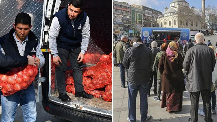 Erdoğan'ın 'varlık kuyruğu'na karşı adrese teslim bedava patates