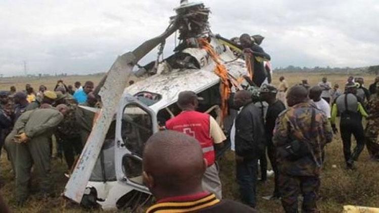 Kenya'da helikopter düştü! Ölü ve yaralılar var