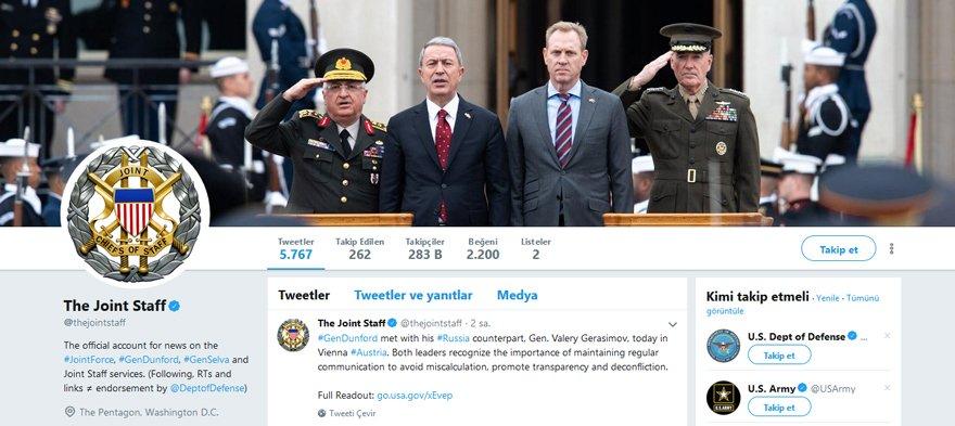 ABD Genelkurmayı'nda ilginç sosyal medya fotoğrafı!