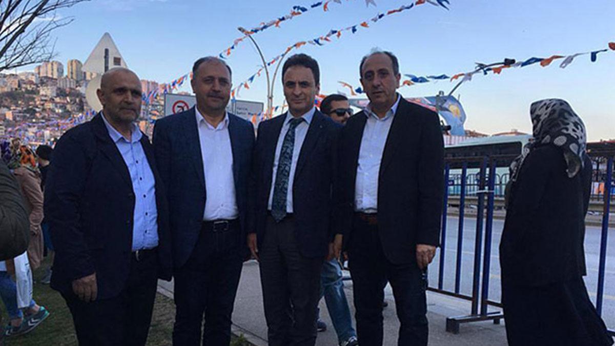 Devlet memurlarının AKP mitingi mesaisi: MEB Müdürü de orada
