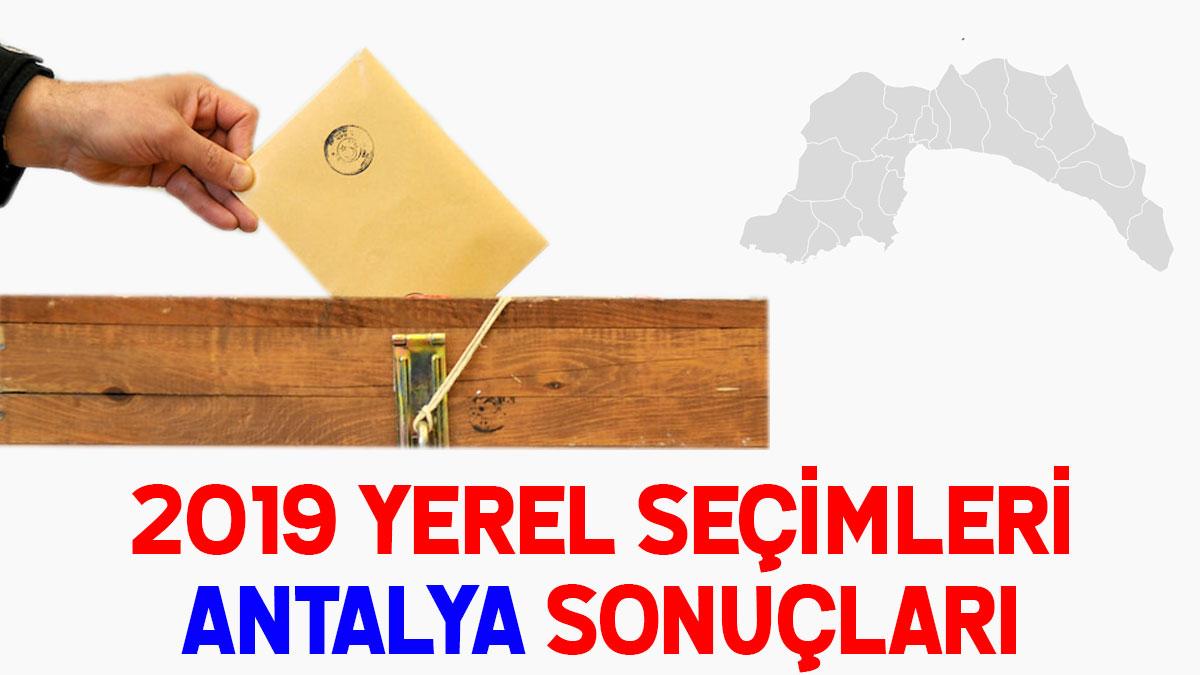 Antalya seçim sonuçları 2019: İşte Antalya oy oranları