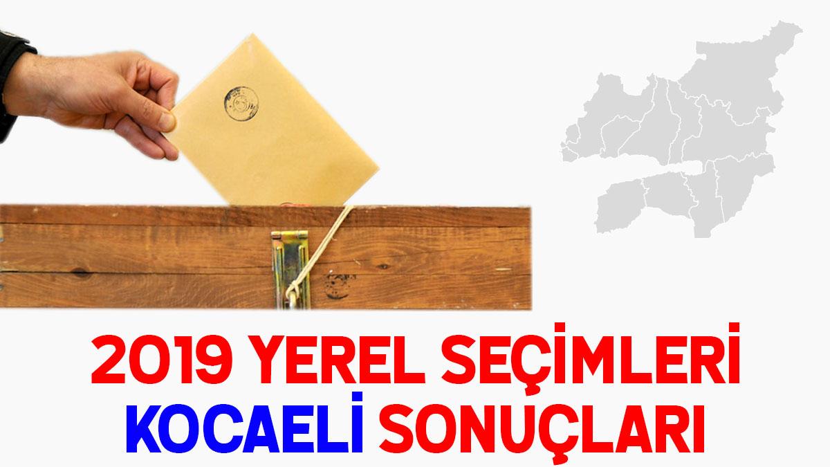 Kocaeli seçim sonuçları 2019: 31 Mart seçim sonucu oy oranları