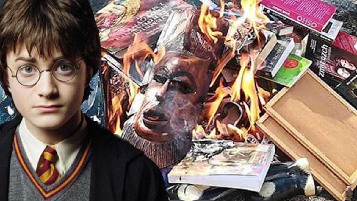 'Dine aykırı' denilerek Harry Potter kitapları yakıldı