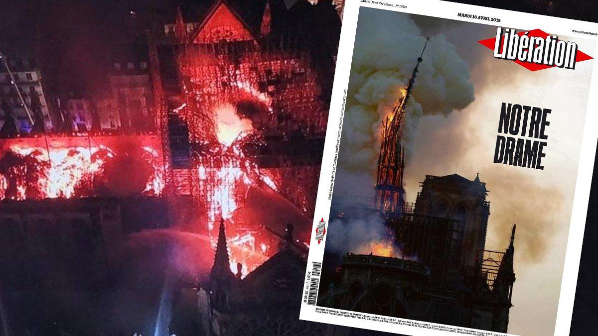 Paris'in ünlü Notre Dame Katedrali'nde yangın!