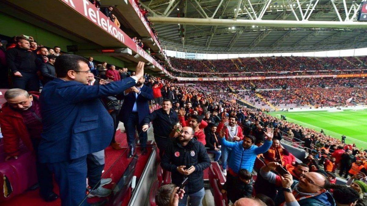 Ekrem İmamoğlu Galatasaray maçında