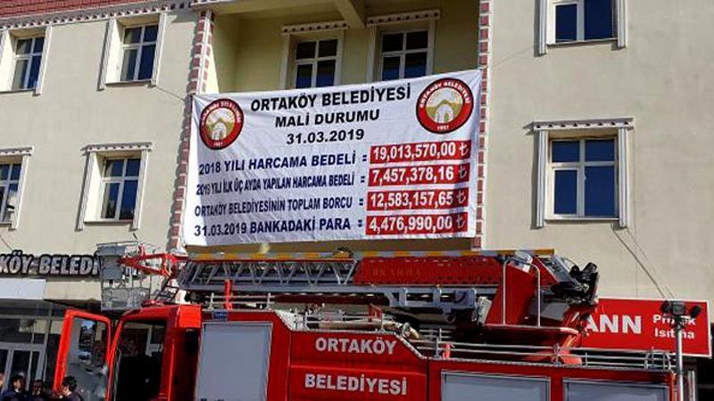Belediyenin borcunu pankartla açıkladı; AKP ile MHP arasında ipler gerildi
