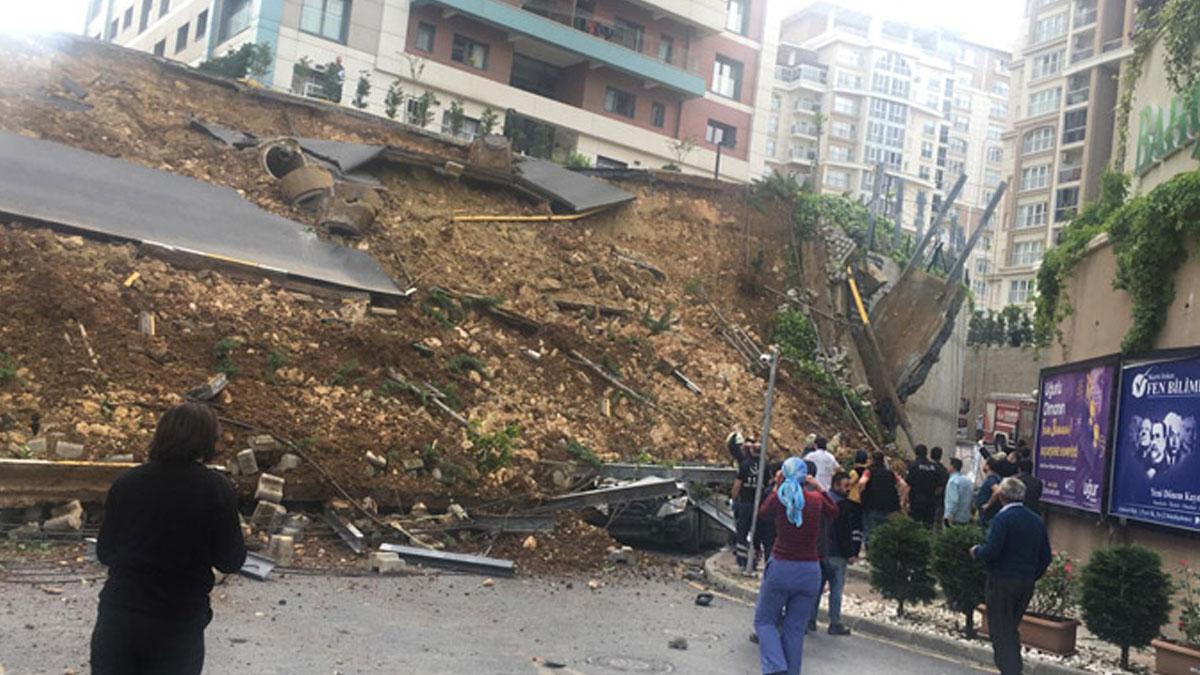 İstanbul'da istinat duvarı çöktü: 1 kişi öldü