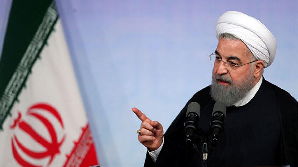 Ruhani'den ABD'ye mesaj: Asla teslim olmayacağız