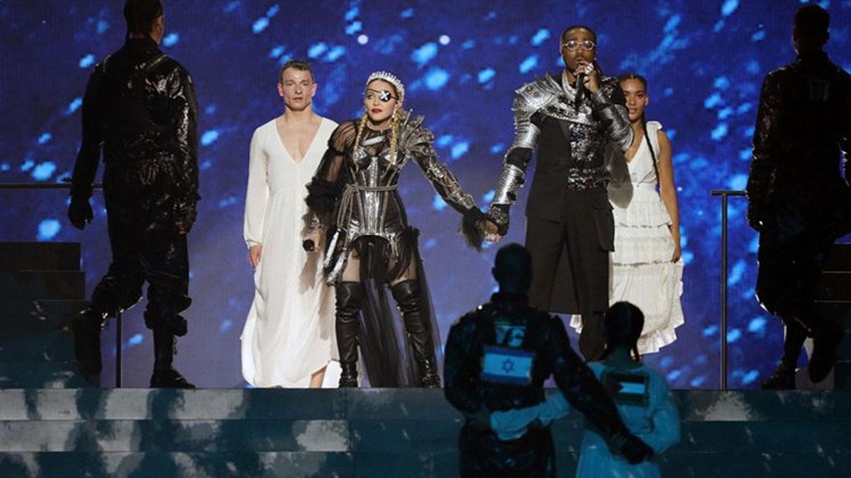 İsrail'deki Eurovision finaline Madonna'dan Filistin damgası