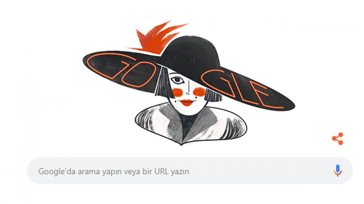 Google'dan Semiha Berksoy Doodle'ı