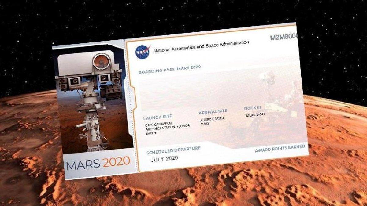Mars'a isim yollama nasıl yapılır? NASA Mars 2020 bileti hazırlama