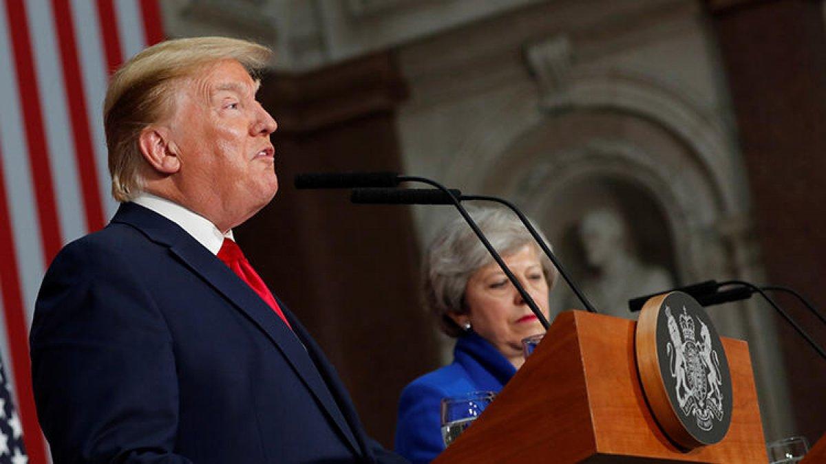 Trump'tan İngiltere'deki protestolara ilk yorum: Hani neredeler?