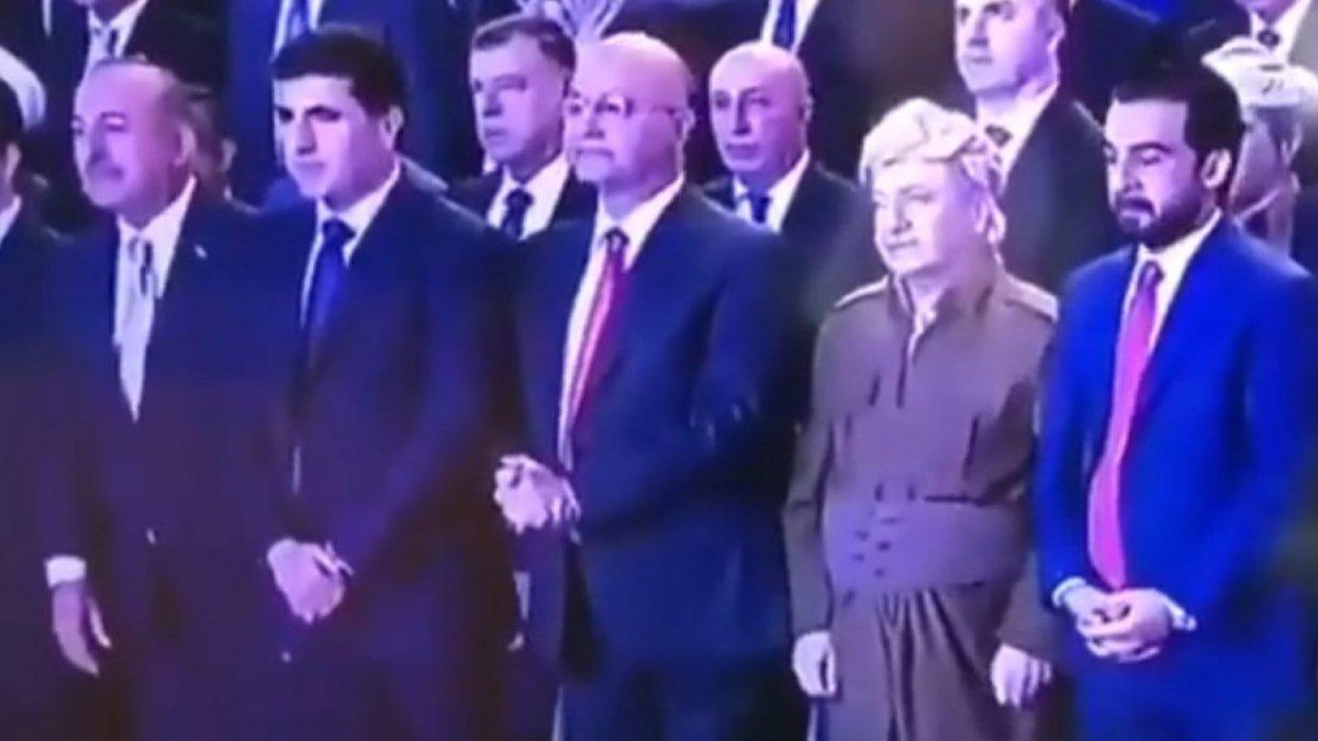 Çavuşoğlu Kürdistan şehitleri için saygı duruşunda bulundu