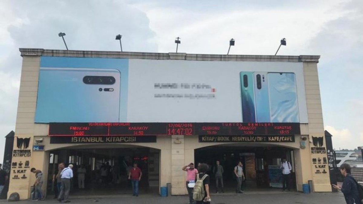 Binali Yıldırım'ın yerine telefon reklamı!