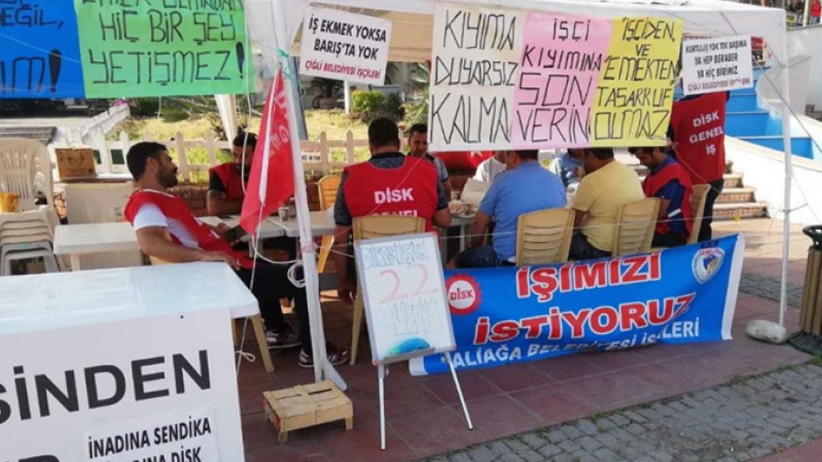 """MHP'li Aliağa Belediyesi'nin işçi kıyımına tepki: """"Siyasi tasfiye"""""""