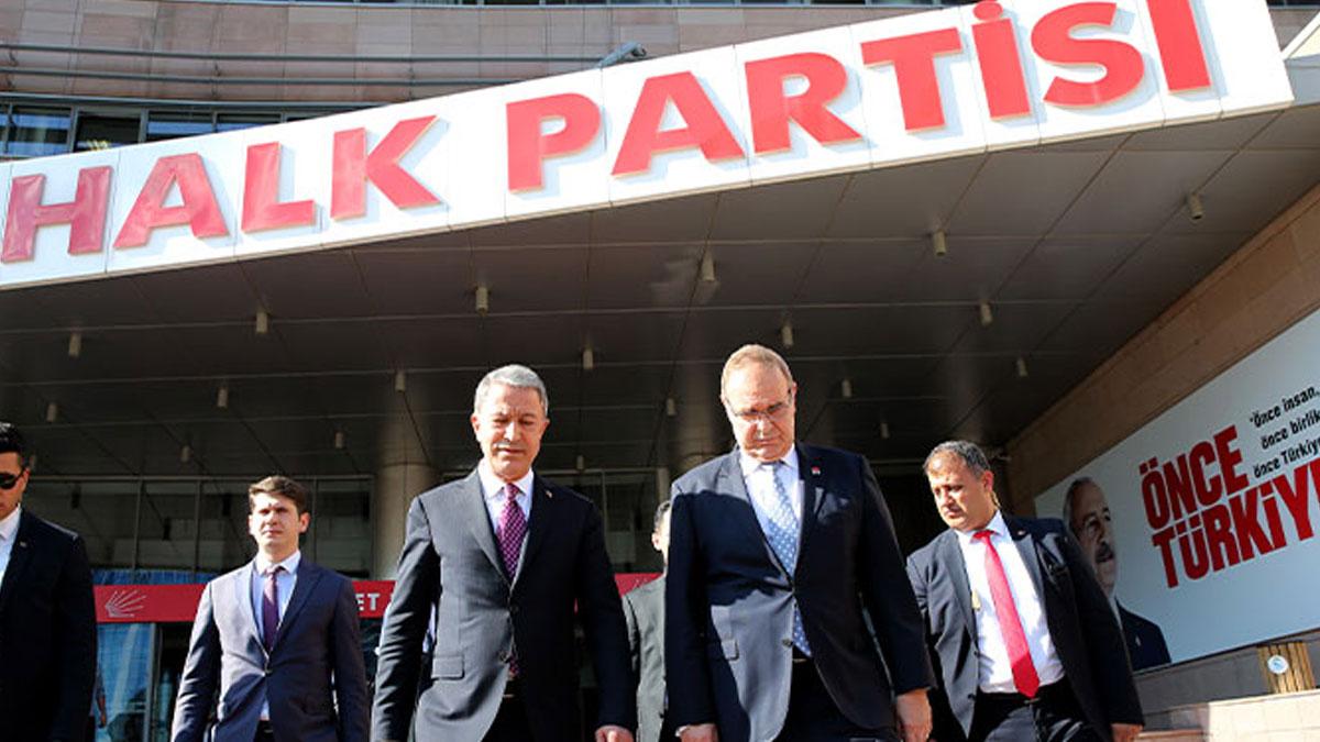 Hulusi Akar, CHP Genel Merkezi'ni ziyaret etti