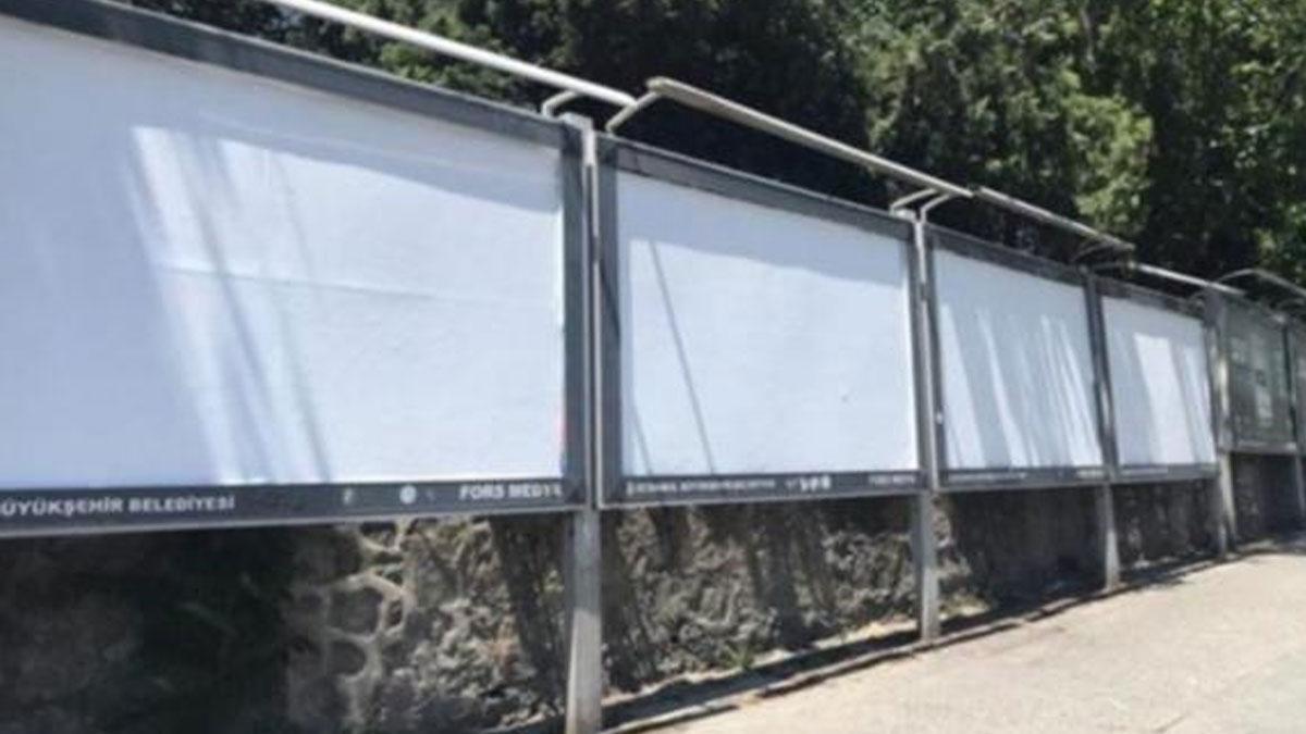İmamoğlu mazbatayı almadan İBB'nin seçim döneminde astığı afişler kaldırıldı