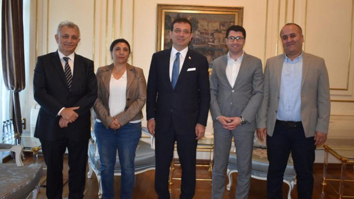 HDP'li heyet, İmamoğlu'na tebrik ziyaretinde bulundu