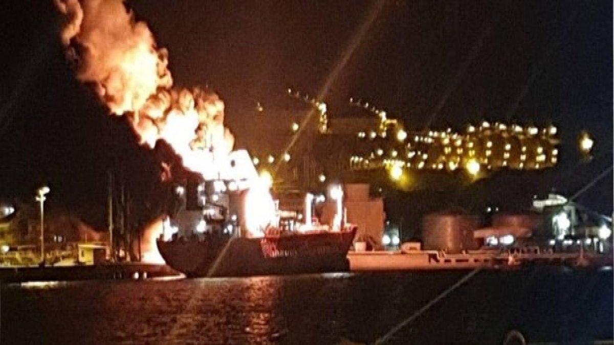 İzmir'de facianın eşiğinden dönüldü! LPG gemisinde patlama
