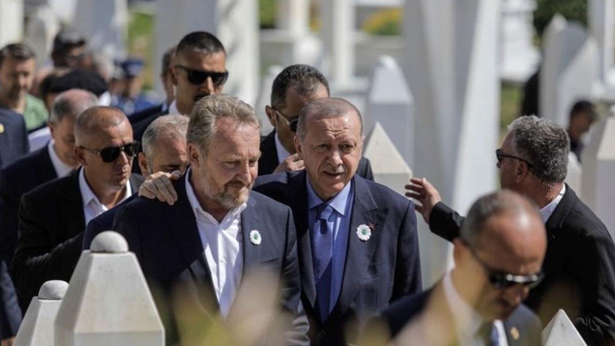 Erdoğan'ın korumalarıyla sınır polisi arasında gerginlik