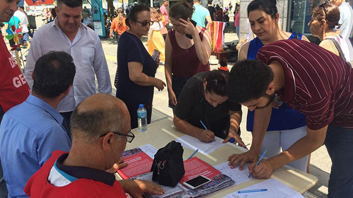 MHP'li belediyenin işten çıkarttığı işçileri için DİSK'ten kampanya
