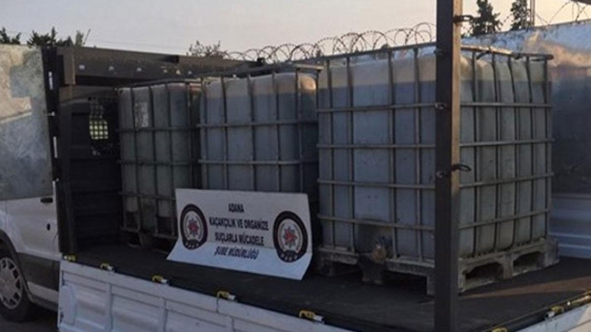 Adana'da 2 bin litre kaçak akaryakıt ele geçti