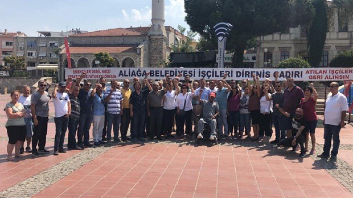 MHP'li belediyenin işten çıkarttığı işçilere CHP'den ziyaret