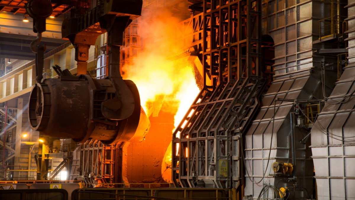 Çelik üretiminde büyük düşüş