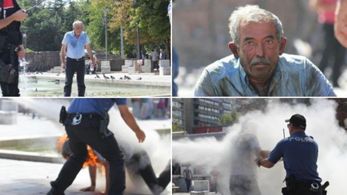 İşsiz yurttaş, Güvenpark'ta kendini ateşe verdi