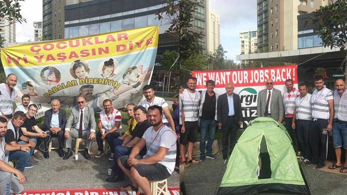 Mahmut Tanal'dan Cargill işçilerine çadırlı destek