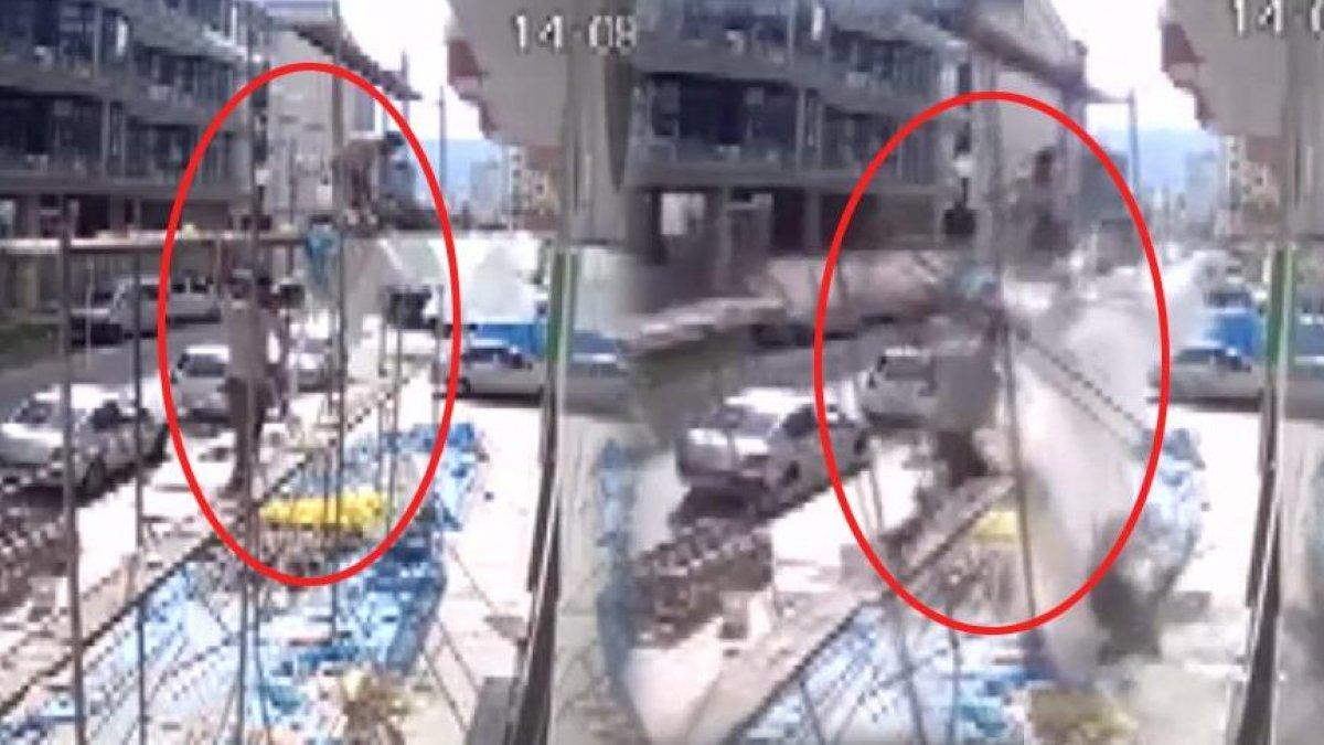 Korkunç kaza! Mantolama iskelesi çöktü 2 işçi...