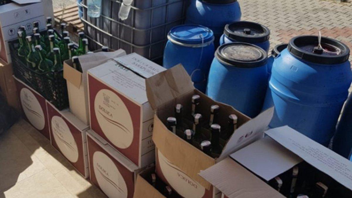 Muğla'da 2 bin 400 litre sahte alkol ele geçirildi