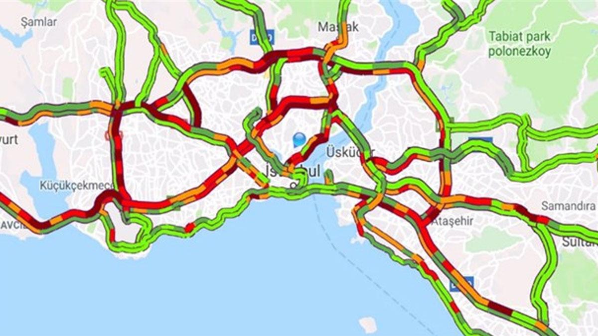 İstanbul'da deprem sonrası trafikte son durum