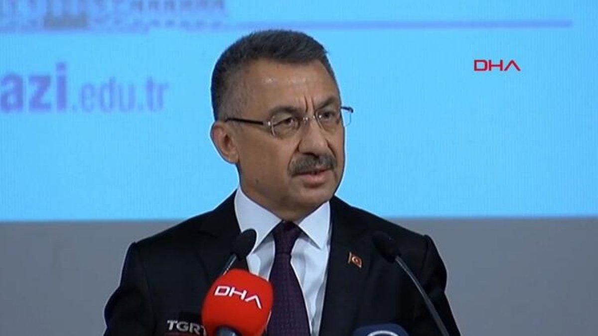 """Fuat Oktay'dan net mesaj! """"Türkiye tehditlerle hareket edecek bir ülke değil"""""""