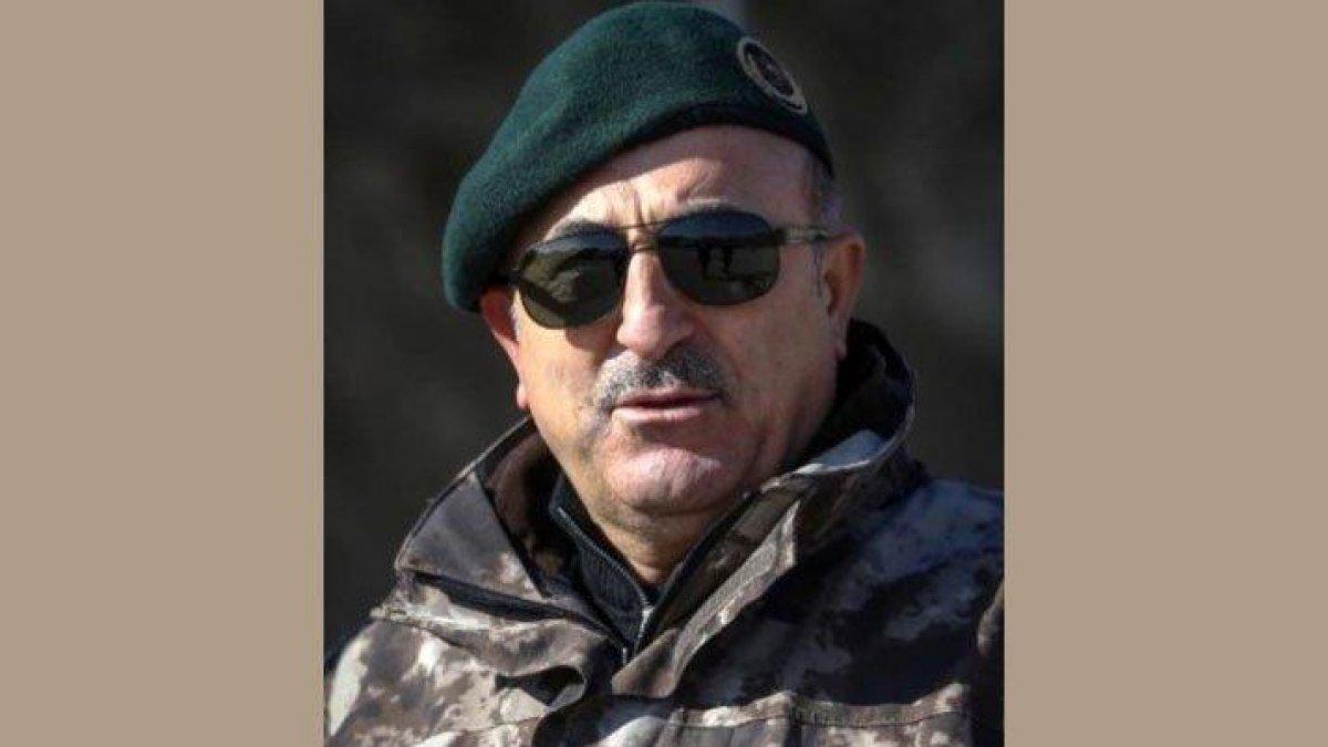 Operasyon öncesi manidar paylaşım... Çavuşoğlu'ndan askeri üniformalı fotoğraf!