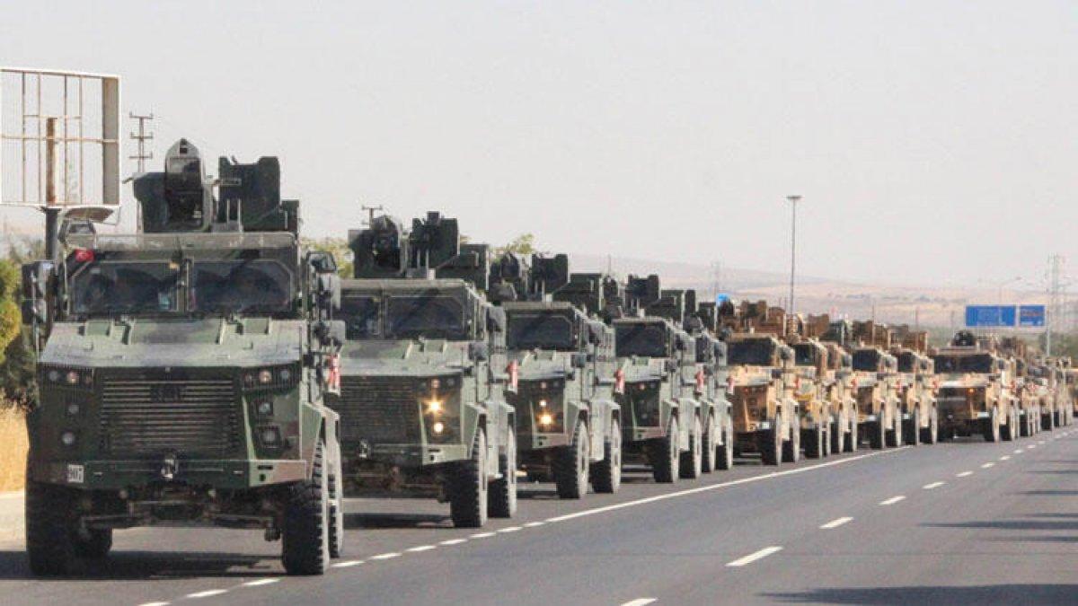 Harekat için geri sayım başladı! 100 araçlık askeri konvoy Kilis'te