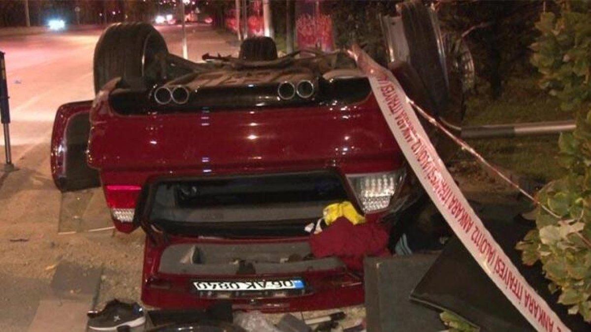Başkent'te gece yarısı feci kaza!