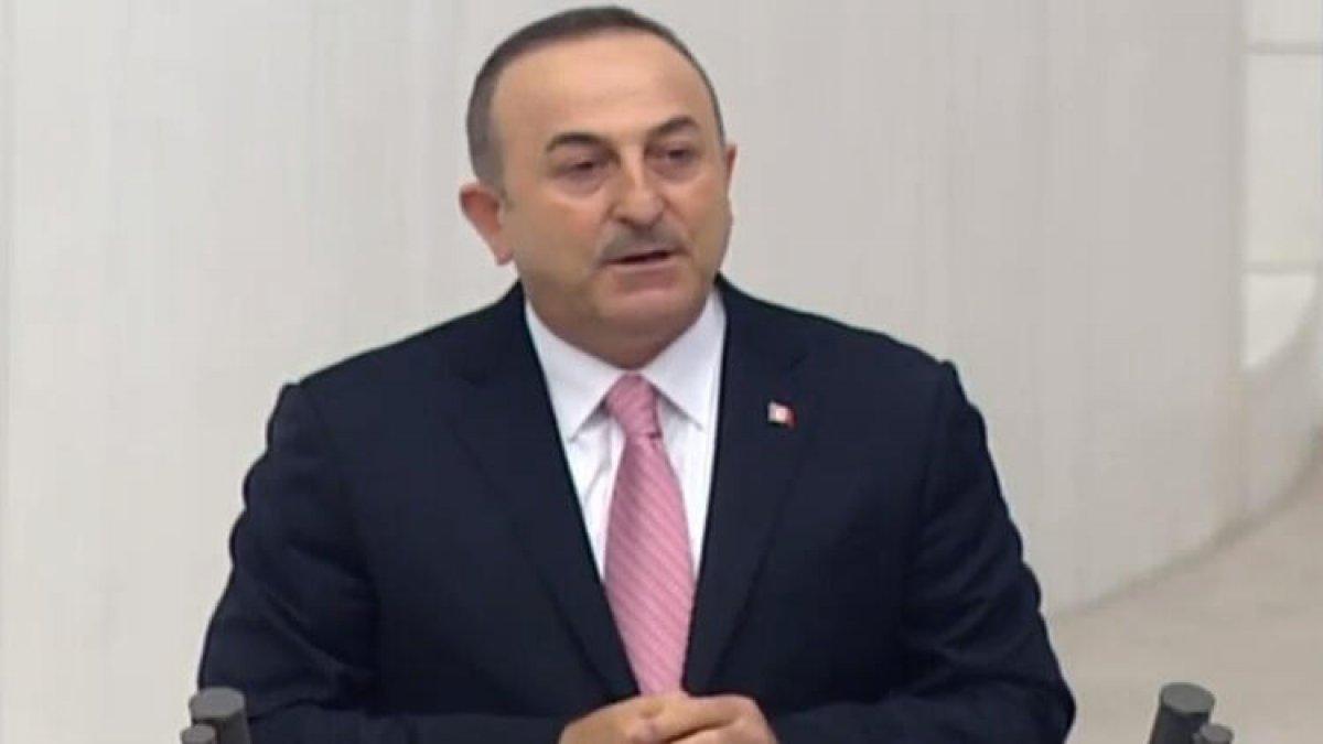 """Çavuşoğlu'ndan Meclis'te """"Barış Pınarı Harekatı"""" bilgilendirmesi!"""