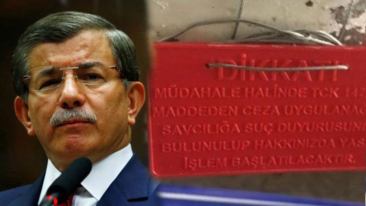Davutoğlu'nun yeni parti için tuttuğu ofis mühürlendi