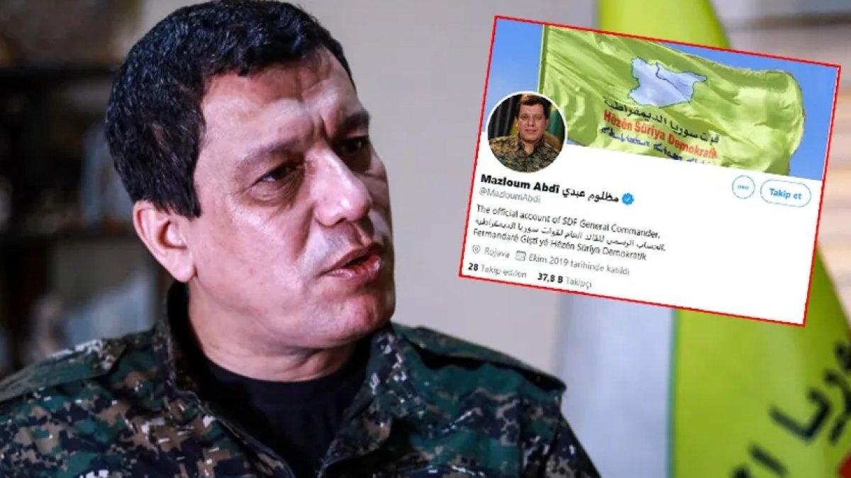 """Twitter'dan terörist Mazlum Kobani'ye """"mavi tik"""""""