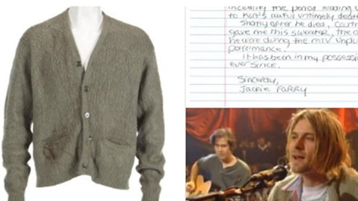 Kurt Cobain'in yeşil hırkası rekor fiyata satıldı