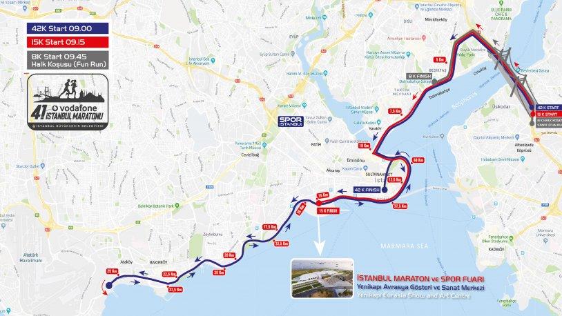 İstanbul Maratona hazır! İşte trafiğe kapatılacak yollar...