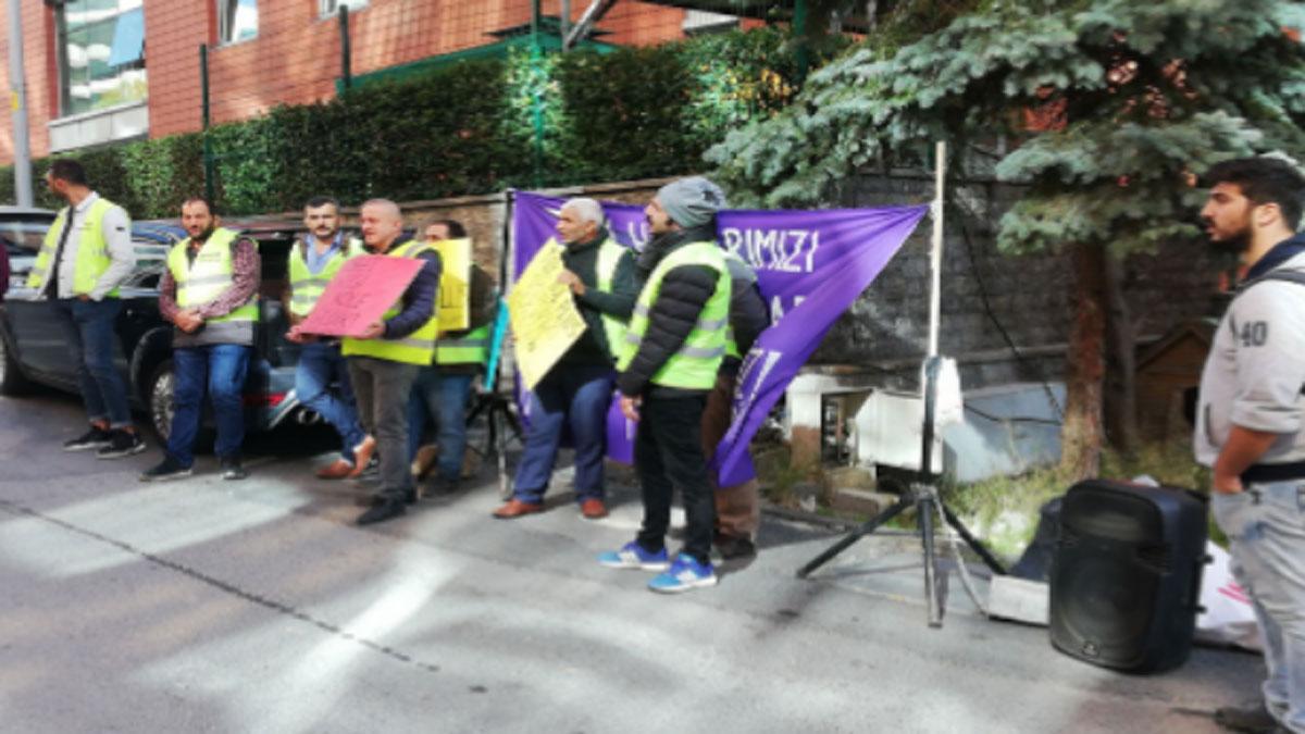 Direnişteki inşaat işçileri gözaltına alındı
