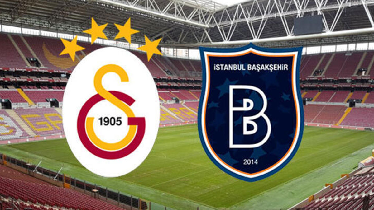 Galatasaray-Medipol Başakşehir maçında ilk yarı sona erdi